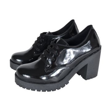 Oxford CR Shoes Tratorado Verniz Preto CR Shoes
