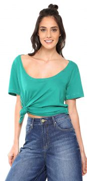 Camiseta Zoomp Decote U Verde Zoomp