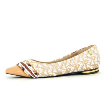 Sapatilha Infinity Shoes Missangas Bege Infinity Shoes