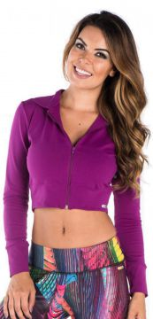 Jaqueta Greenjam Cropped Roxo Greenjam
