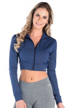 Jaqueta Greenjam Cropped Azul Greenjam