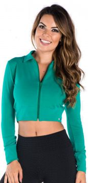 Jaqueta Greenjam Cropped Verde Greenjam