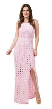 Vestido Pink Tricot Longo Sol Rosa Pink Tricot