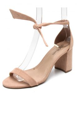 Sandália DAFITI SHOES Lace Up Nude DAFITI SHOES