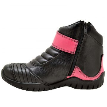 Bota Atron Shoes Motociclista Rosa Atron Shoes