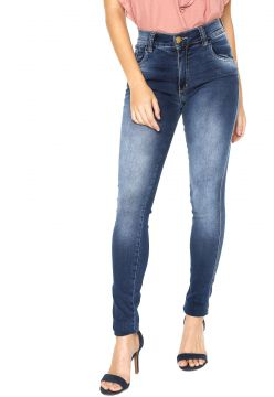 Calça Jeans Disparate Skinny Bordada Azul Disparate