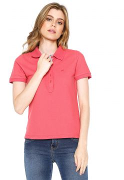 Camisa Polo Hering Reta Coral Hering