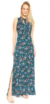 Vestido For Why Longo Floral Verde For Why