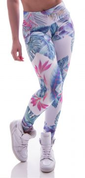 Legging Advance Clothing Tropical Branca Advance Clothing