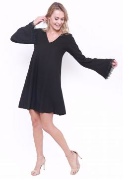 Vestido Modisch Tunic Dress Preto Modisch