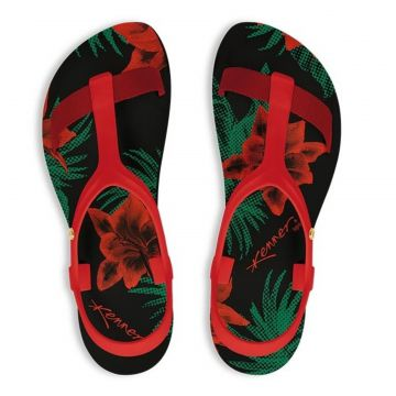 Chinelo Kenner Lips Wing Sandal Lily Vermelho 745