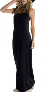 Vestido Longo Donna Brasiliana Tubinho Black Basic Preto Do