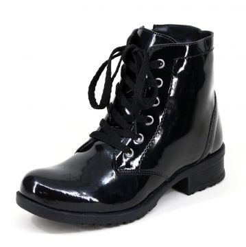 Bota Coturno Magi Shoes Verniz Preto Magi Shoes