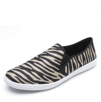 Slip On Santa Lolla Animal Print Preto/Bege Santa Lolla