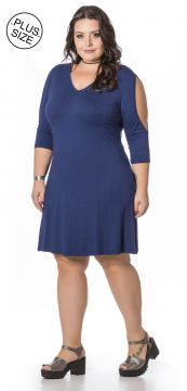 Vestido Plus Size Miss Masy Plus Azul Miss Masy Plus