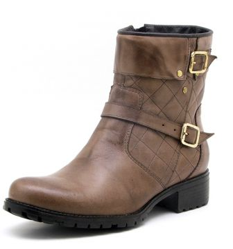 Bota Atron Shoes Cano Curto Castor Marrom Atron Shoes