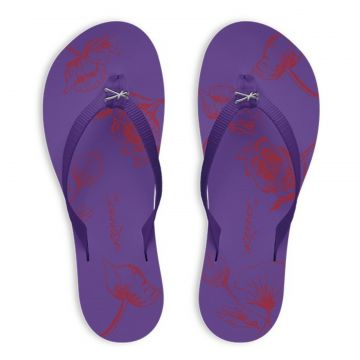 Chinelo Kenner Lips Kyra Slim Sketch Roxo 745