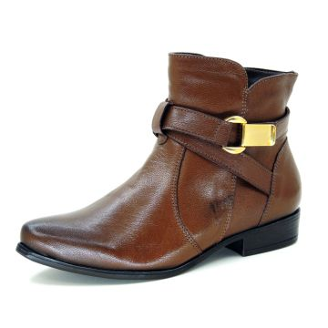 Bota Infinity Shoes Cano Curto Conhaque Infinity Shoes
