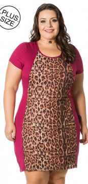 Vestido Plus Size Miss Masy Plus LOJPF56136 Roxo Miss Masy
