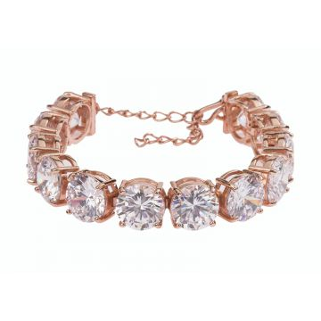 Pulseira Maxi The Ring Boutique Ouro Rosé The Ring Boutique