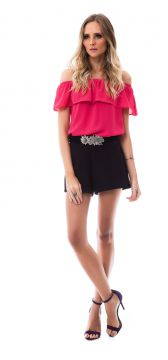 Blusa Angel Ombro a Ombro Rosa Angel