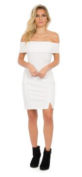 Vestido Due Tre Madison Off-white Due Tre