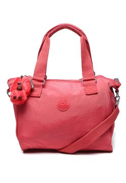 Bolsa Kipling Basic Amiel Smooth Berry Rosa Kipling
