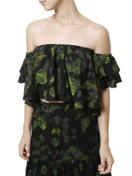 Top Cropped Autentique Preto Autentique