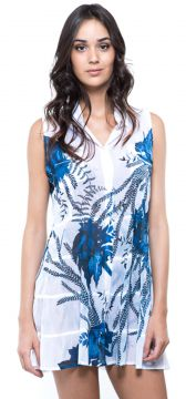 Vestido Chemise 101 Resort Wear Saida Azul 101 Resort Wear