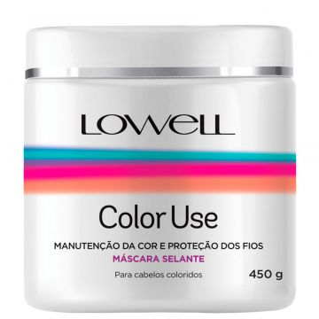Máscara Lowell Color Use Selante 450g Branco Lowell