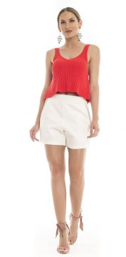 Short Moikana Tecido Off-White Moikana