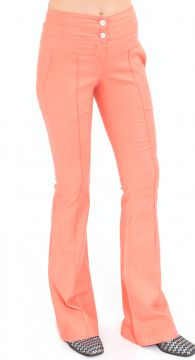 Calça Flare Lucy in The Sky Linho Coral Lucy in The Sky