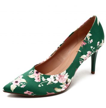 Scarpin Thelure Floral Verde Thelure