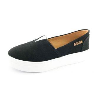 Tênis Quality Shoes Flatform 003 Lona Preto Quality Shoes