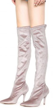 Bota Over The Knee Vizzano Bico Fino Rosa Vizzano