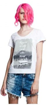 Camiseta into the wild Geek10 - Branco Geek10