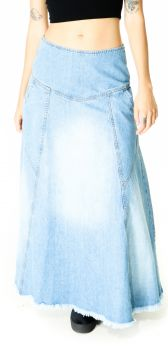 Saia Longa Lady Rock Jeans Azul Lady Rock