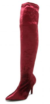 Bota Over The Knee Vizzano Veludo Vinho Vizzano
