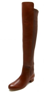 Bota Over The Knee Couro Dumond Recorte Caramelo Dumond