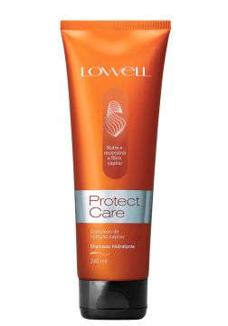 Shampoo Lowell Protect Care Limpa os Fios Sem Agredir 240ml