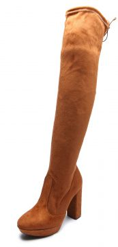 Bota Over The Knee Vizzano Salto Grosso Caramelo Vizzano