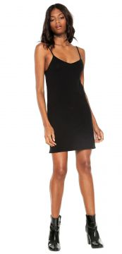 Vestido Slip Dress Chilli Beans Curto Liso Preto Chilli Bea