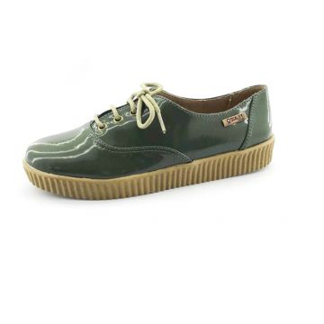Tênis Creeper Quality Shoes Verniz Verde Militar Quality Sh