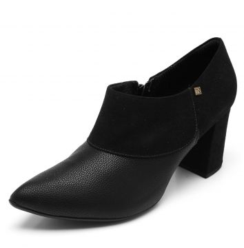 Ankle Boot Piccadilly Bico Fino Preto Piccadilly