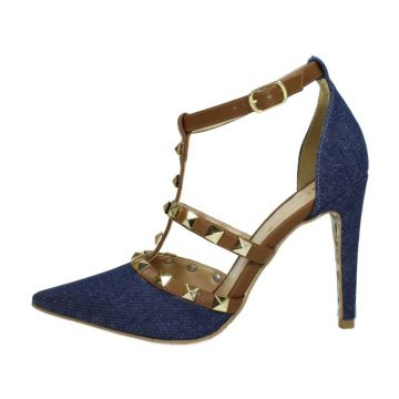 Scarpin Week shoes Tachas Jeans Week shoes