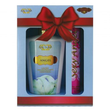 Kit 2pçs Hidratante + Perfume Sexy Angel Cuba Love Secret