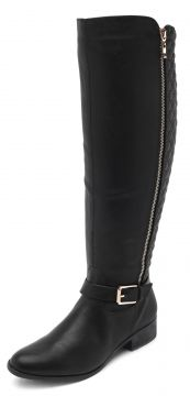Bota Over The Knee Via Marte Style Preta Via Marte