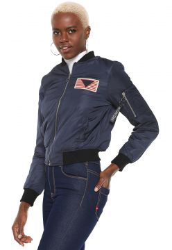 Jaqueta Bomber Facinelli by MOONCITY Patche Azul Facinelli