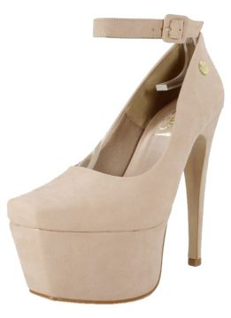 Scarpin Week shoes Meia-Pata salto alto 15 Nude Week shoes