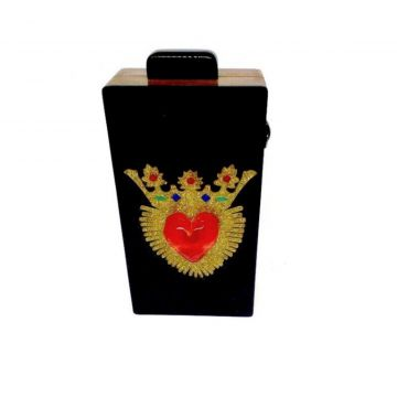 Bolsa La Madame Co Clutch Pop Black La Madame Co
